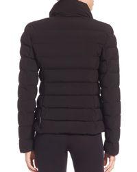 Moncler Black Antigone Quilted Shearling-Trimmed Down Jacket