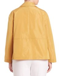 Lafayette 148 New York | Yellow Triboro Tech Cloth Tavi Jacket | Lyst