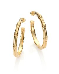 John Hardy - Metallic Bamboo 18K Yellow Gold Small Hoop Earrings/1.55 - Lyst