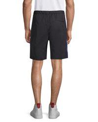Tommy Hilfiger - Black Cotton Sports Shorts for Men - Lyst