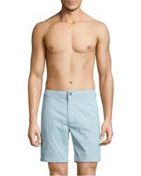 Onia - Blue Calder Textured Swim Trunks for Men - Lyst