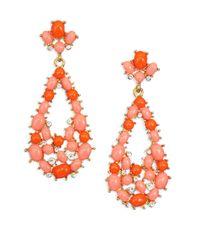 Kenneth Jay Lane - Orange Coral Drop Earrings - Lyst