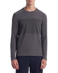 Saks Fifth Avenue - Gray Collection Mixed Media Sweatshirt for Men - Lyst