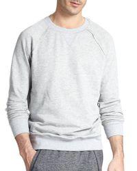 2xist Gray Terry Pullover Sweatshirt for men