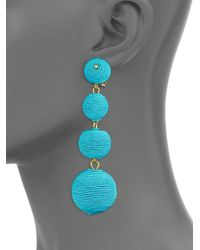 Kenneth Jay Lane - Blue Three Matte Ball Clip-on Earrings/turquoise - Lyst