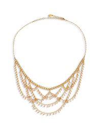 Chan Luu - Metallic Draped Bib Necklace - Lyst