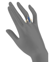 Meira T - Metallic Diamonds, Blue Labradorite & 14k Yellow Gold Ring - Lyst