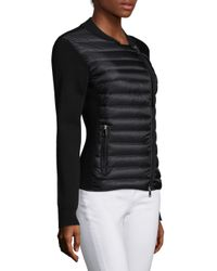 Moncler - Black Maglia Wool Zip-front Jacket - Lyst