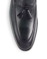 Saks Fifth Avenue   Green Saks Fifth Avenue By Magnanni Tassel Leather Loafers for Men   Lyst
