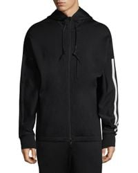 Y-3 Black Striped Zip-front Jacket for men