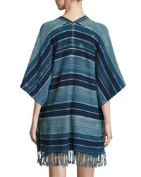 Polo Ralph Lauren Blue Fringed Open-front Cardigan