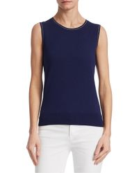 Saks Fifth Avenue - Blue Collection Sleeveless Shell Top - Lyst