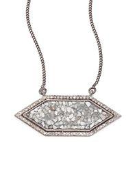 Shana Gulati - Metallic Shashi Raw Sliced Diamond Pendant Necklace - Lyst