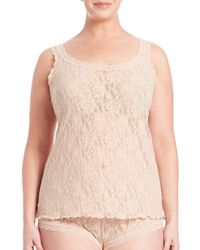 Hanky Panky   Pink Plus Size Signature Lace Camisole   Lyst