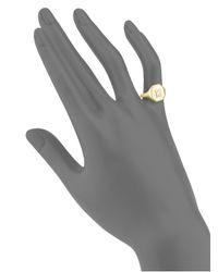 SHAY | Metallic Diamond & 18k Yellow Gold Pinky Ring | Lyst