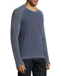Splendid Mills - Blue Mix Media Long Sleeve Tee for Men - Lyst