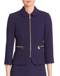 Michael Kors - Multicolor Virgin Wool Zip Jacket - Lyst