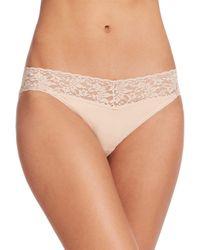 Hanky Panky - Natural Women's Cotton V-kini Bikini Briefs - Navy - Size Xs - Lyst