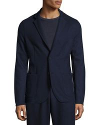 Tomas Maier - Blue Felted Wool Slim-fit Blazer for Men - Lyst