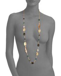 Alexis Bittar - Multicolor Elements Beaded Smoky Quartz, Green Labradorite & Crystal Necklace/42 - Lyst
