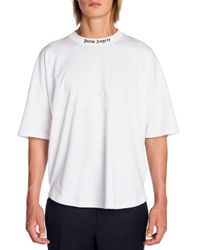 Palm Angels - White Signature Printed Tee for Men - Lyst