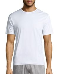 Saks Fifth Avenue - White Short Sleeve Crewneck Tee for Men - Lyst