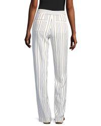 FRAME White Striped Wide Leg Pants