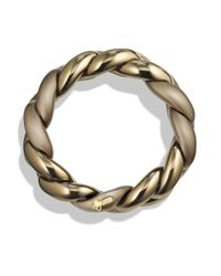 David Yurman - Metallic Belmont Curb Link Bracelet In Titanium With An Accent Of 18k Gold - Lyst