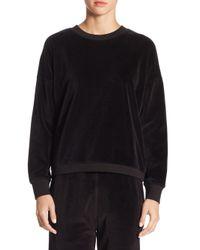 Vince - Black Velour Cotton Sweater for Men - Lyst