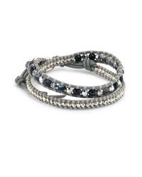 Chan Luu - Gray Grey Banded Agate Mix Double-wrap Bracelet - Lyst