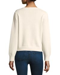 Joie Multicolor Barin Pineapple Knit Sweater