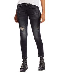R13 Black Alison Distressed Cropped Jeans