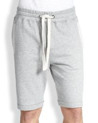 2xist - Gray Terry Shorts for Men - Lyst