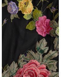 Basix Black Label Black Floral Appliqué Gown