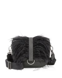 Brunello Cucinelli - Multicolor Ostrich Feather And Leather Shoulder Bag - Lyst