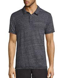Splendid Mills - Black Heathered Cotton Polo for Men - Lyst