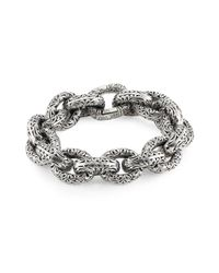 Konstantino Metallic Chunky Sterling Silver Bracelet