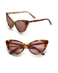 Tom Ford Brown Nikita 55mm Cat's-eye Sunglasses/havana