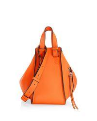 Loewe Orange Hammock Small Leather Bag