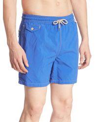 Polo Ralph Lauren Blue Lux Traveler Swim Trunks for men