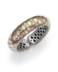 John Hardy - Metallic Naga 18k Yellow Gold & Sterling Silver Bold Flex Cuff Bracelet - Lyst