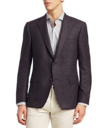 Saks Fifth Avenue Purple Collection By Samuelsohn Classic-fit Wool Sportcoat for men