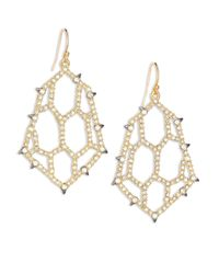Alexis Bittar - Metallic Elements Spiked Crystal Honeycomb Drop Earrings - Lyst