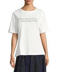 Public School - White Everything I Like Tee - Lyst