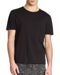 T By Alexander Wang - Black Classic Crewneck Tee for Men - Lyst