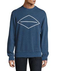 Rag & Bone | Blue Graphic Front Cotton Sweater for Men | Lyst