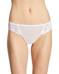 Aubade - White Jardin Des Delices Printed Mesh Tanga - Lyst