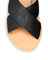 Ancient Greek Sandals Black For Peter Pilotto Thais Perforated Leather Crossover Slide Sandals