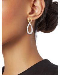 Ippolita Metallic Chimera 18k Yellow Gold & Sterling Silver Wavy Snowman Earrings