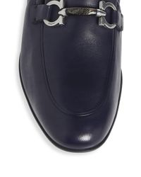 Ferragamo - Blue Celso Leather Loafers for Men - Lyst